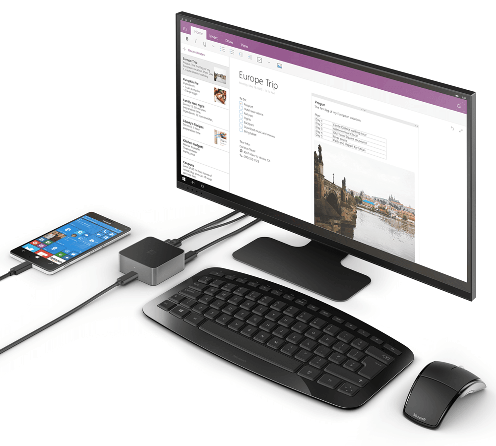Produktbild Display Dock und Lumia 950